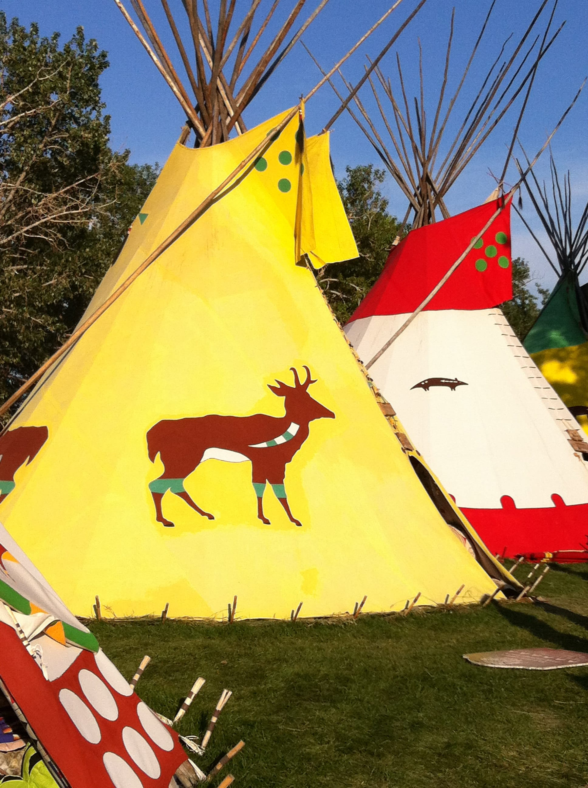 First nations teepees