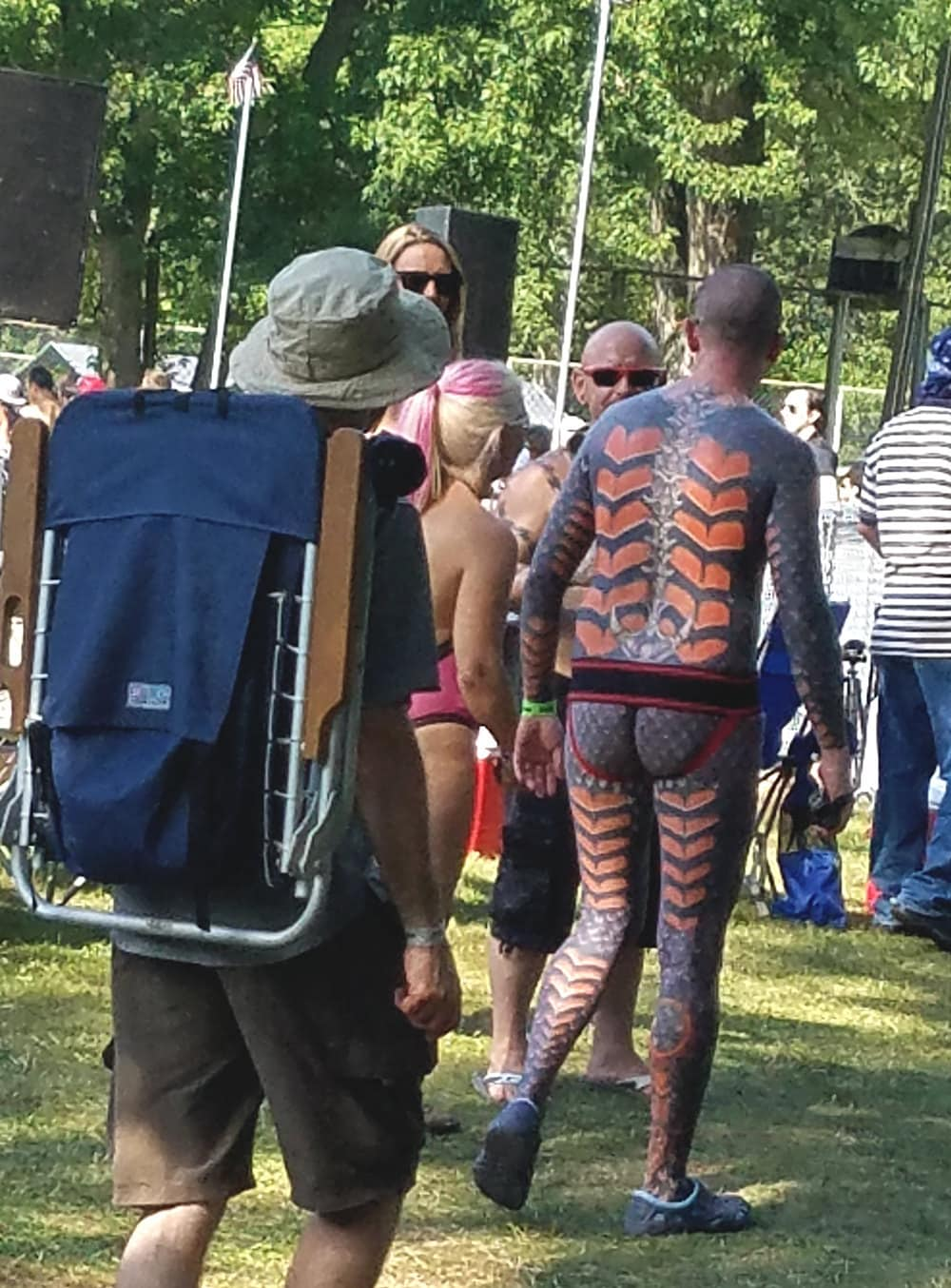 Nudes A Poppin 2017, full body heart mechanical suit tattoo