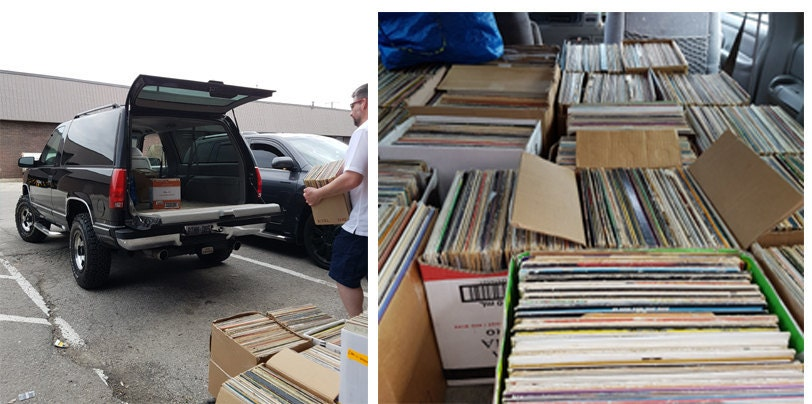 Loading up 1500 vintage records!