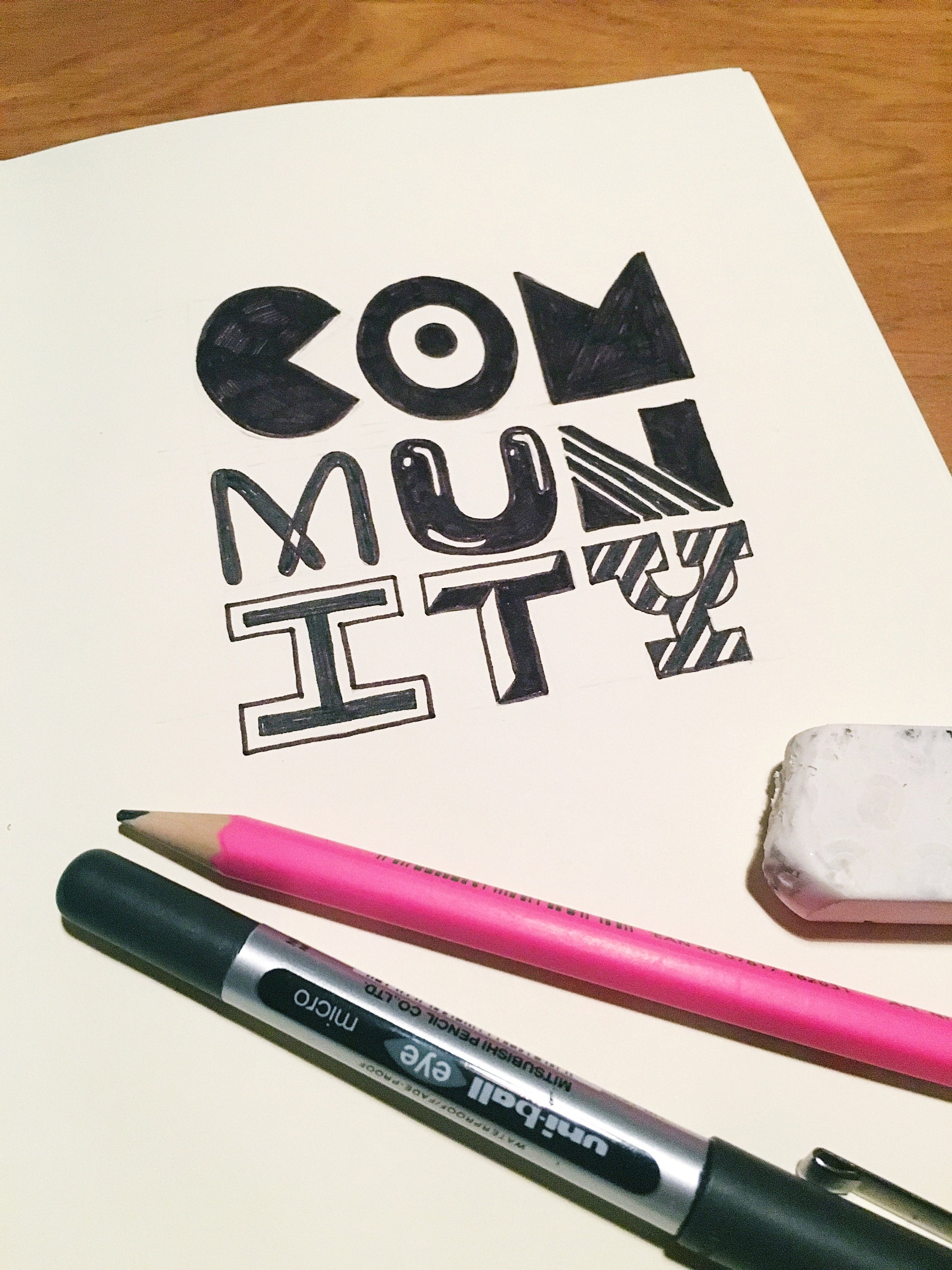 100 days of typographic doodles