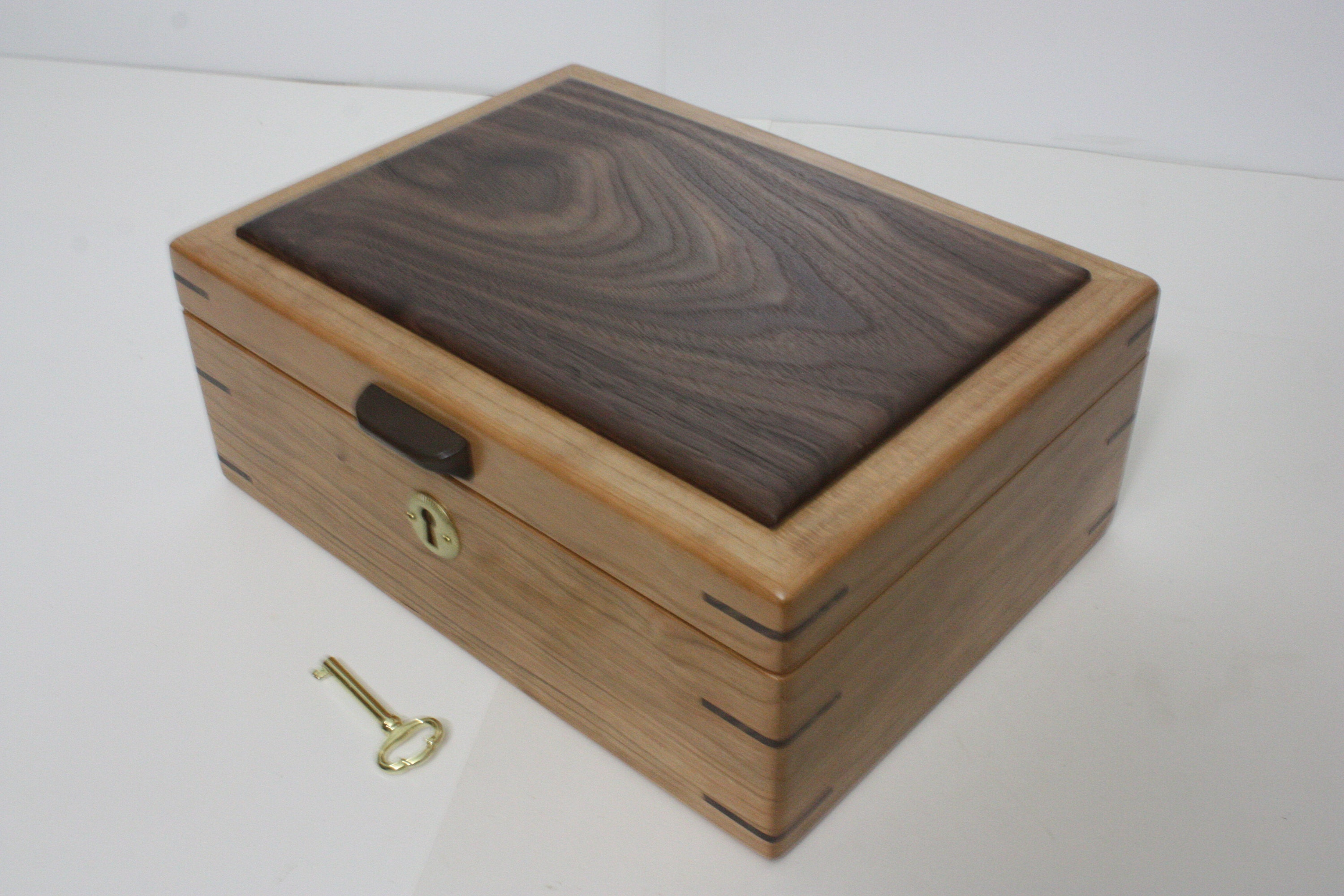 Handmade Cherry Wood Box For Sale