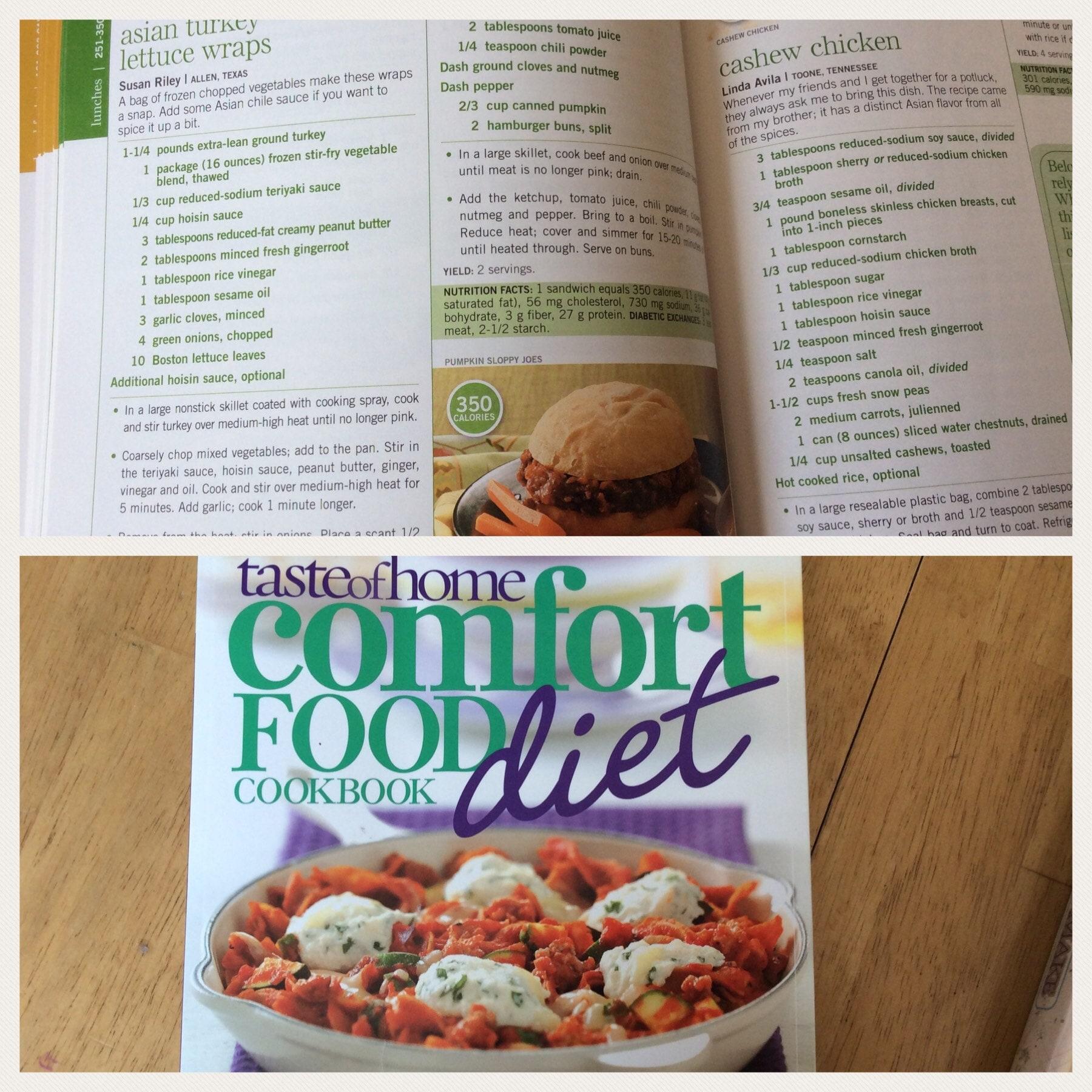 Taste of Home comfort food cookbook