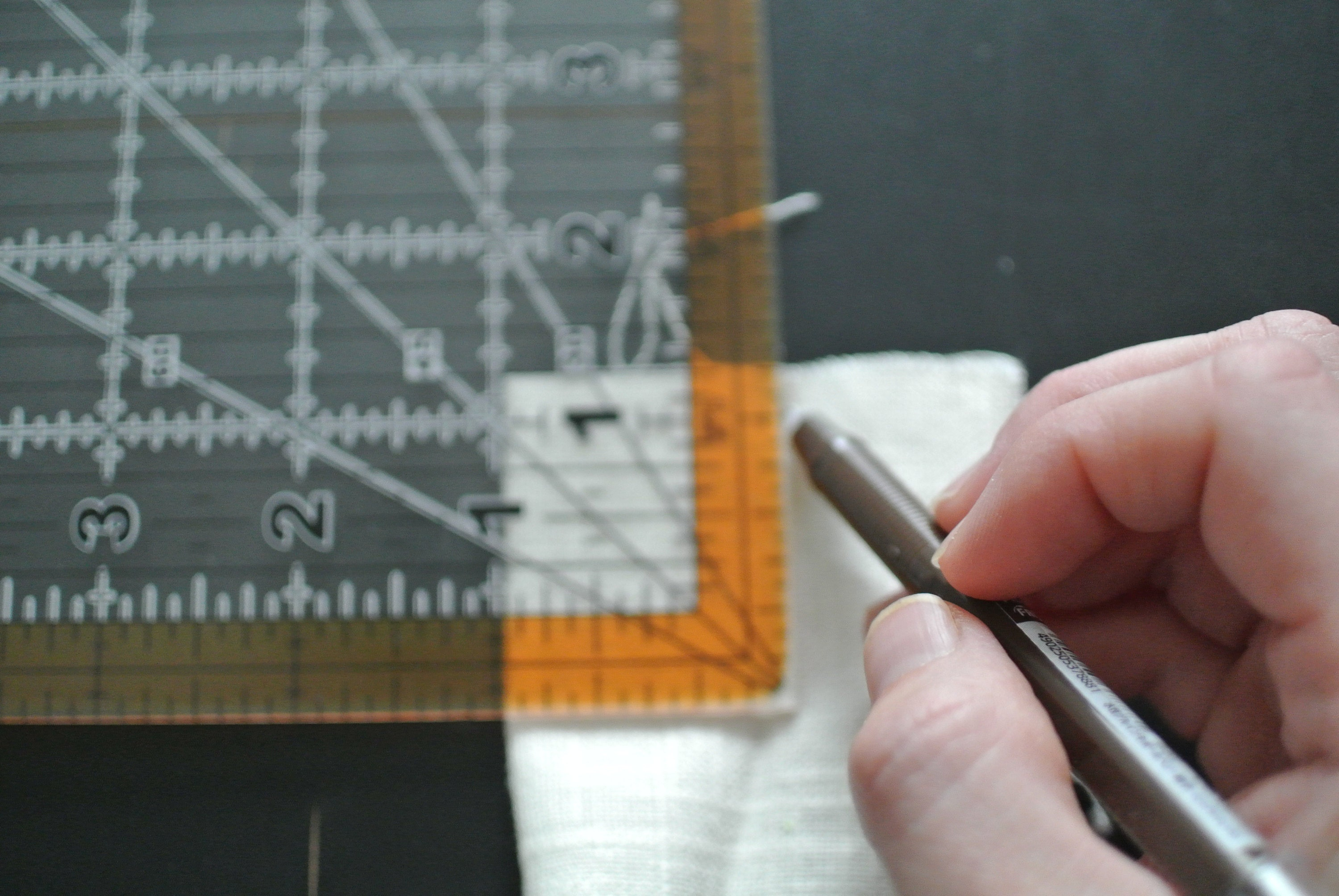 measuring for the pleat