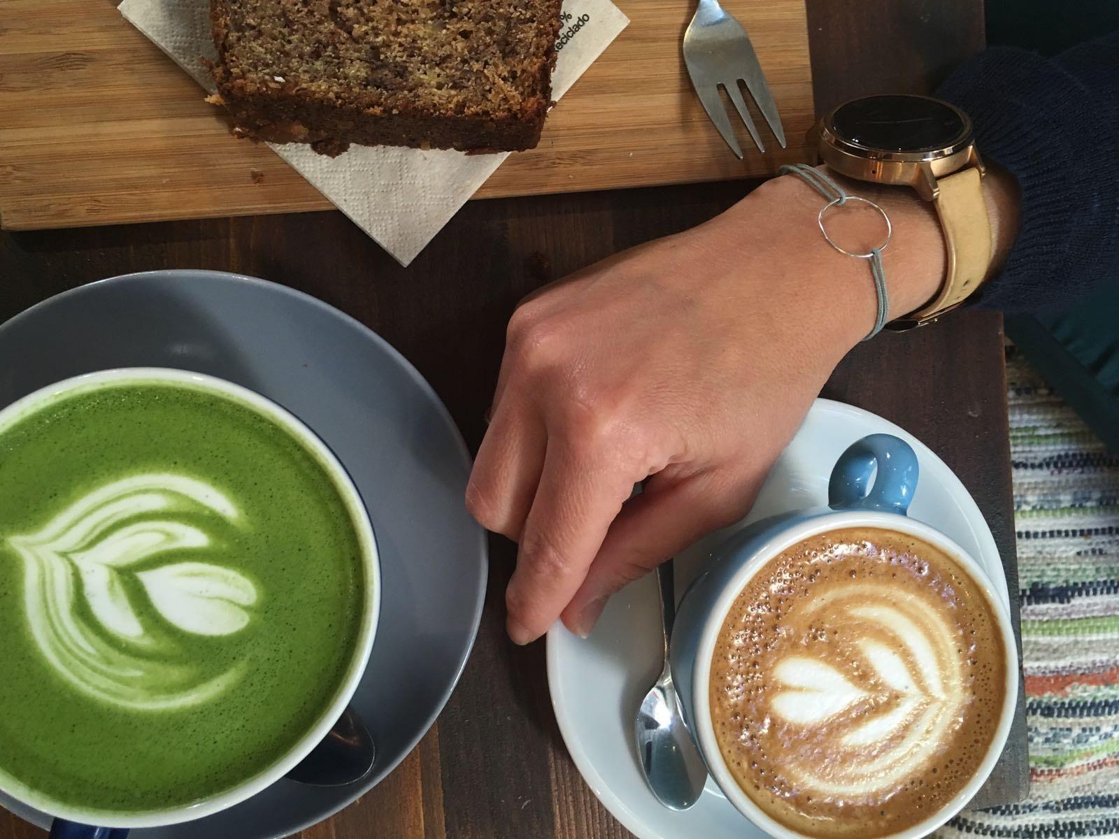 Pulsera Circulus, matcha y café con leche en Hanso