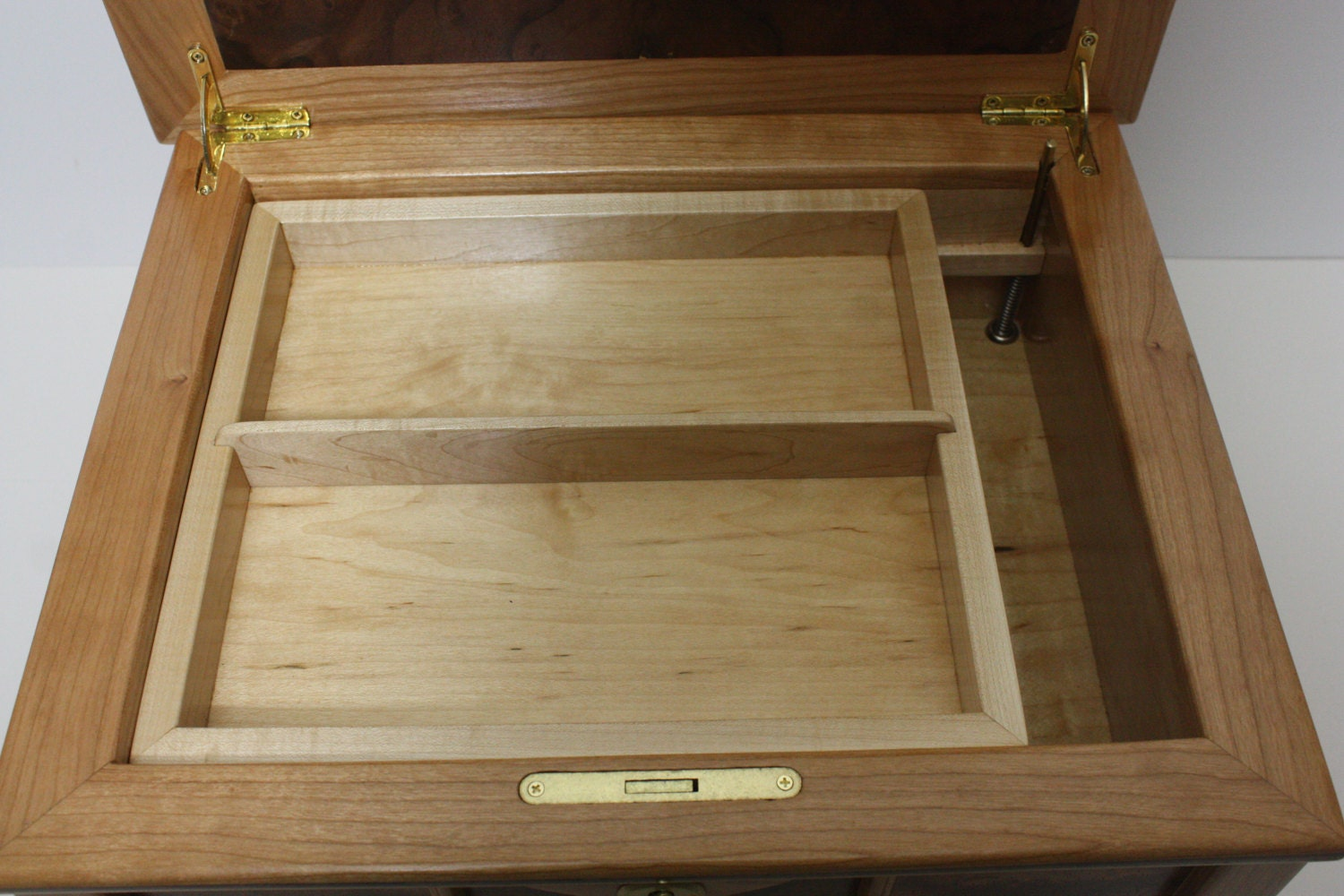Large handmade box with Lift-out Tray