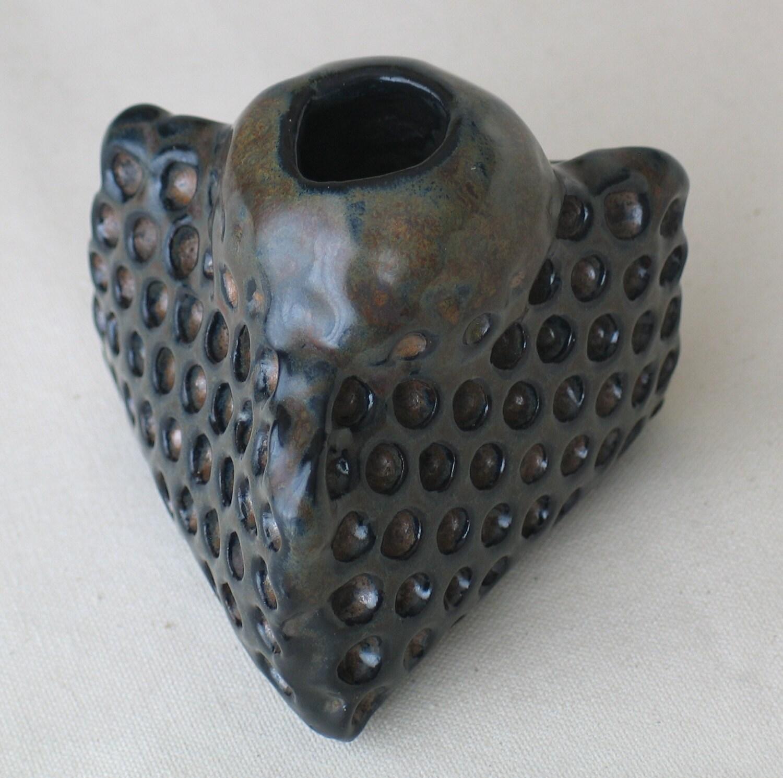 Ceramic Honeycomb vase.  Apis habilis:  Vase Number 8