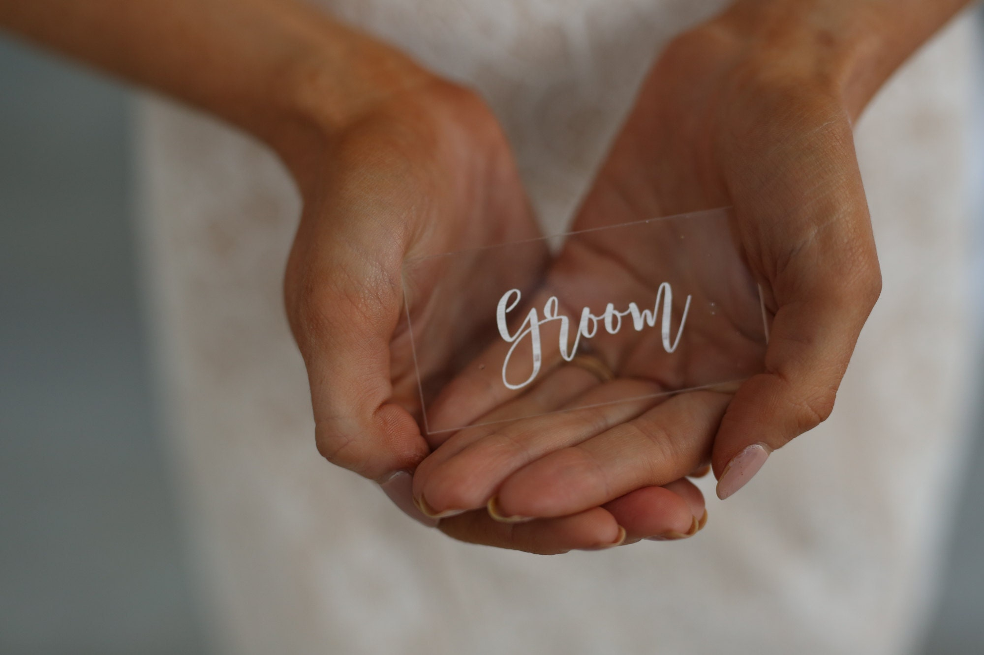 Laser engraved place cards