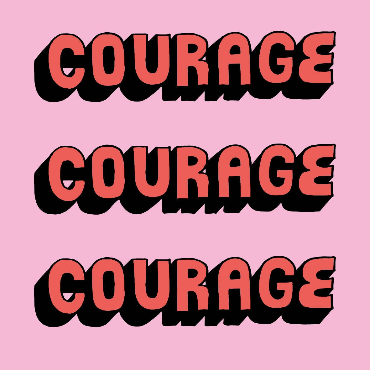 #365daysoftype hand lettering Have courage