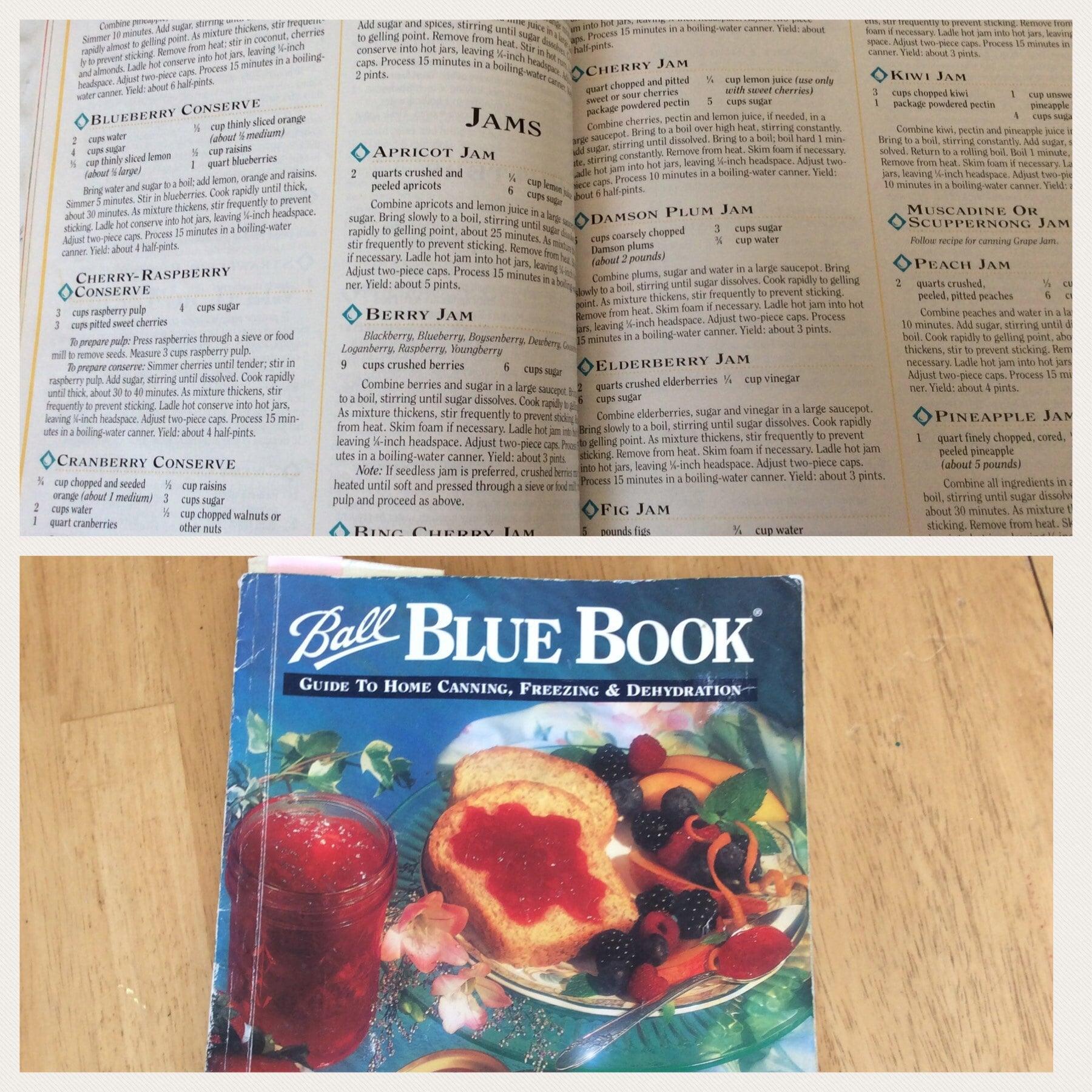 Ball Blue Book canning cookbook
