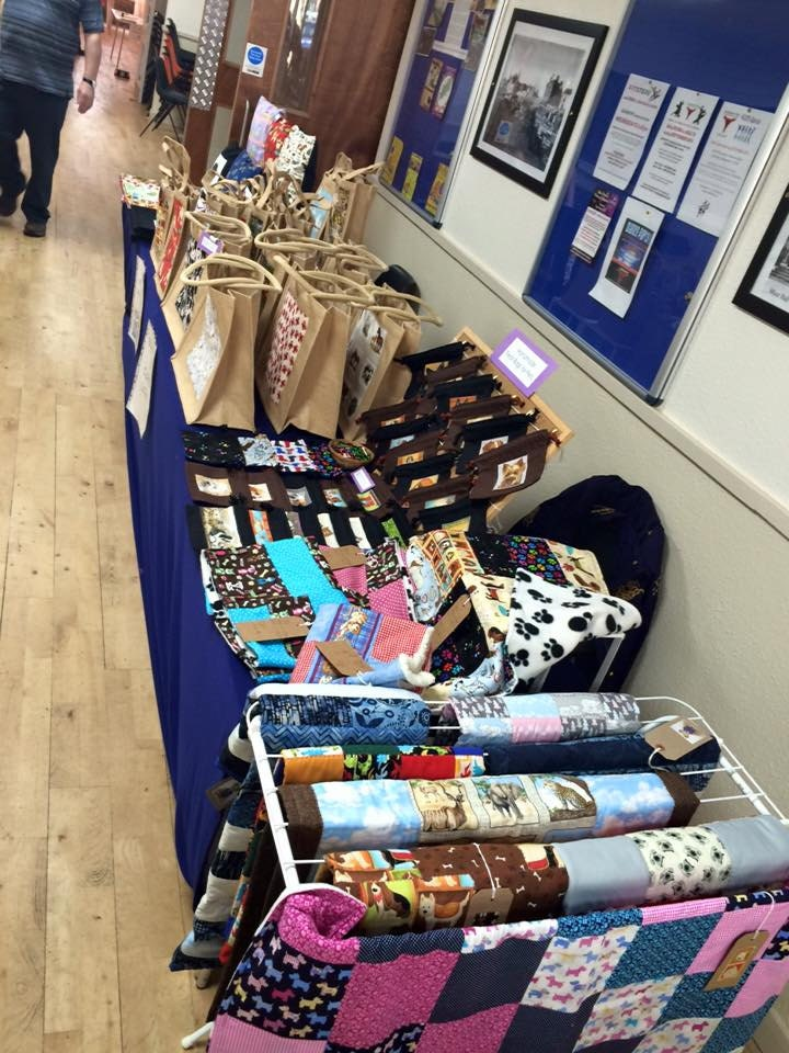 Our stall at a previous Companion Dog Show at Daventry