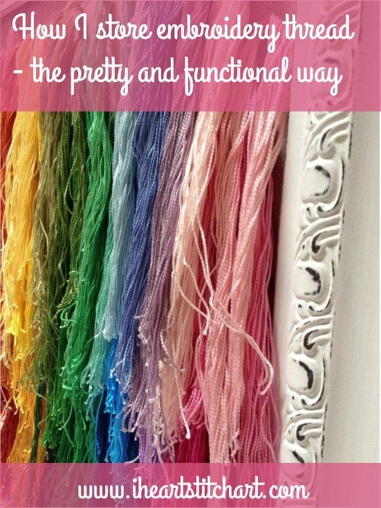 Store embroidery thread: a pretty, functional way