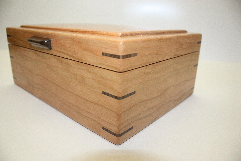 Cherry Wood Box with Mitered Corners