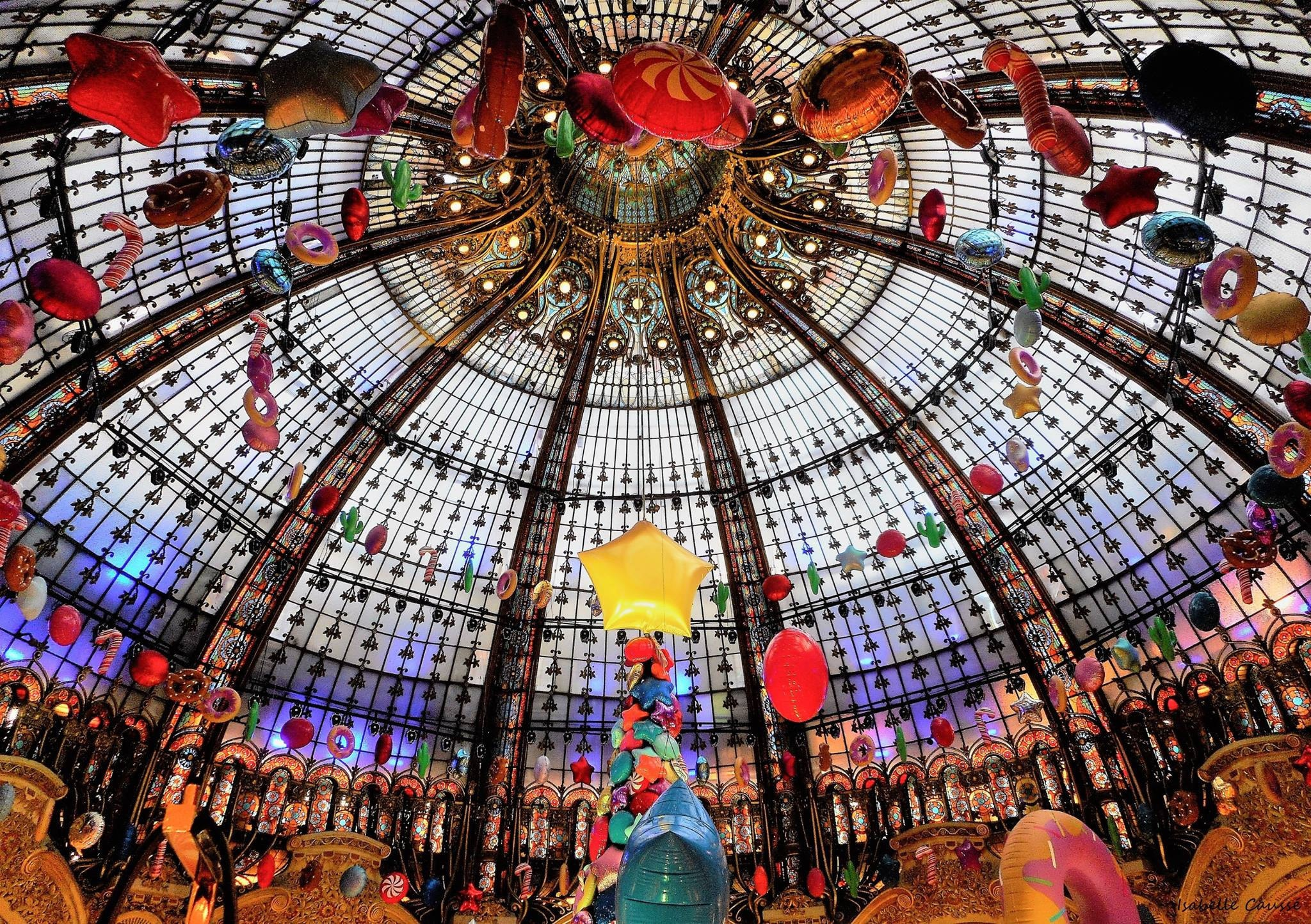 Coupole des Galeries Lafayette, Paris. Photo I.Caussé