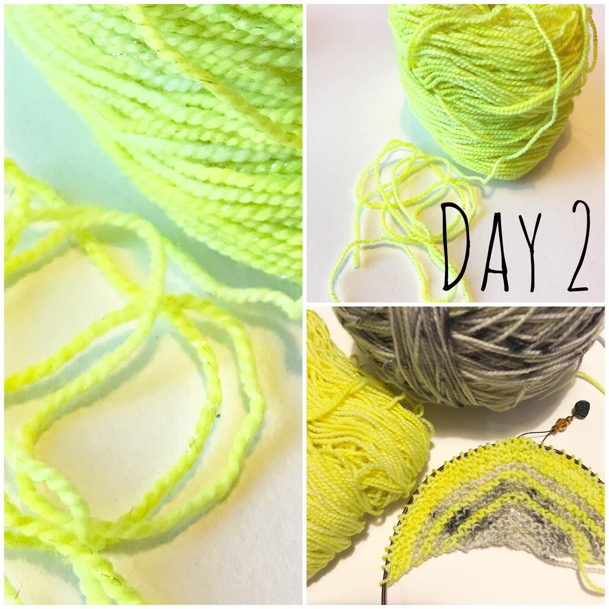 yarn and knitting for day 2