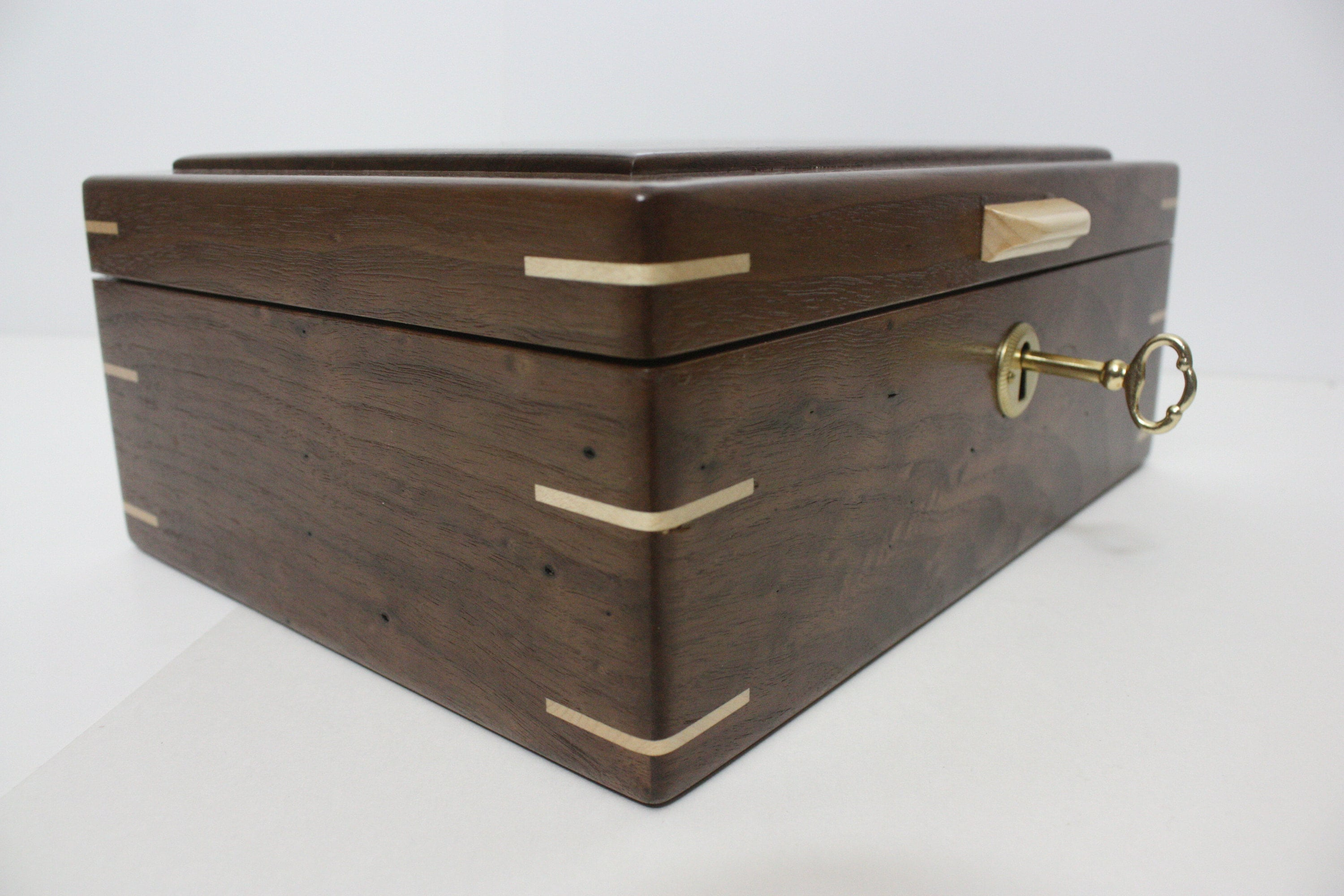 Handcrafted Locking Walnut Box