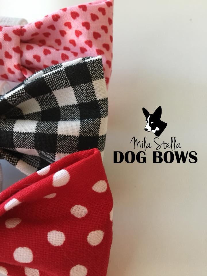 Valentines Day dog bows