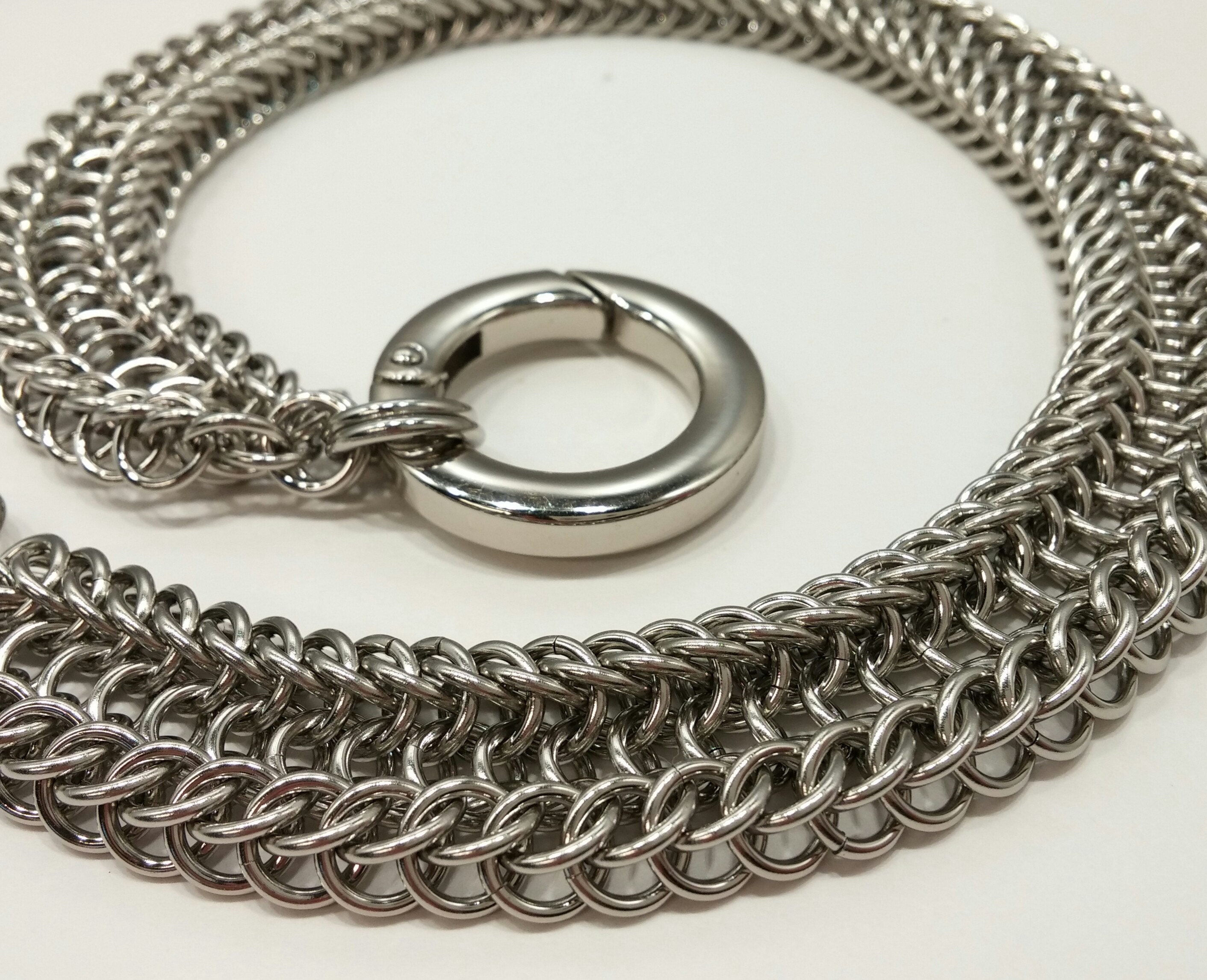 Alligator Back Chainmaille in stainless steel