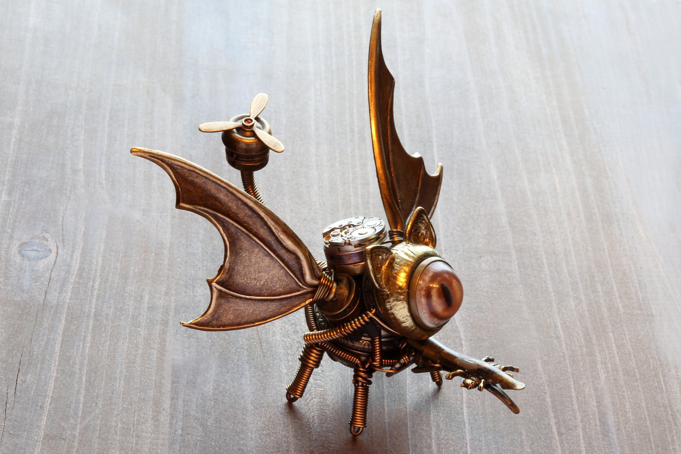 Steampunk dragon-cat robot
