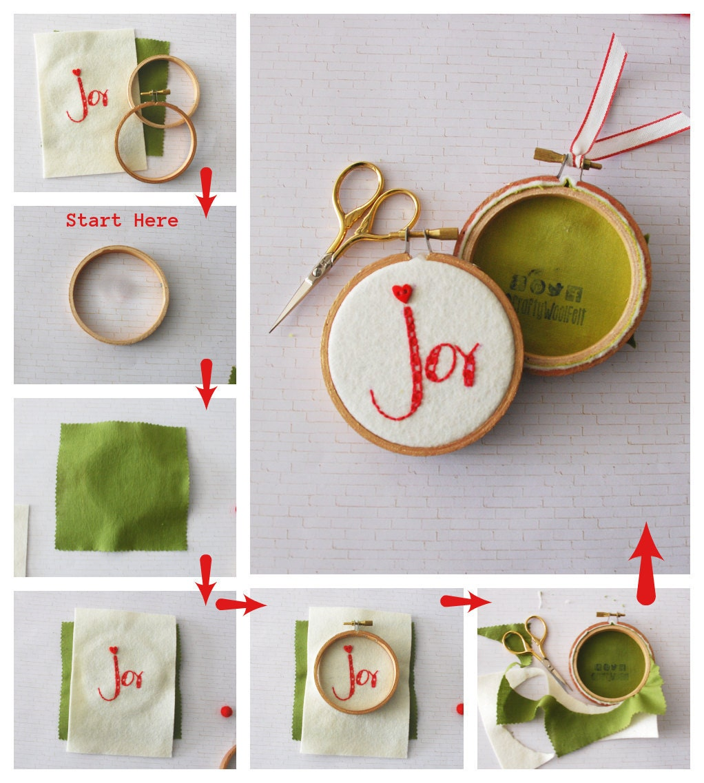 DIY Ornament - Hoop Art