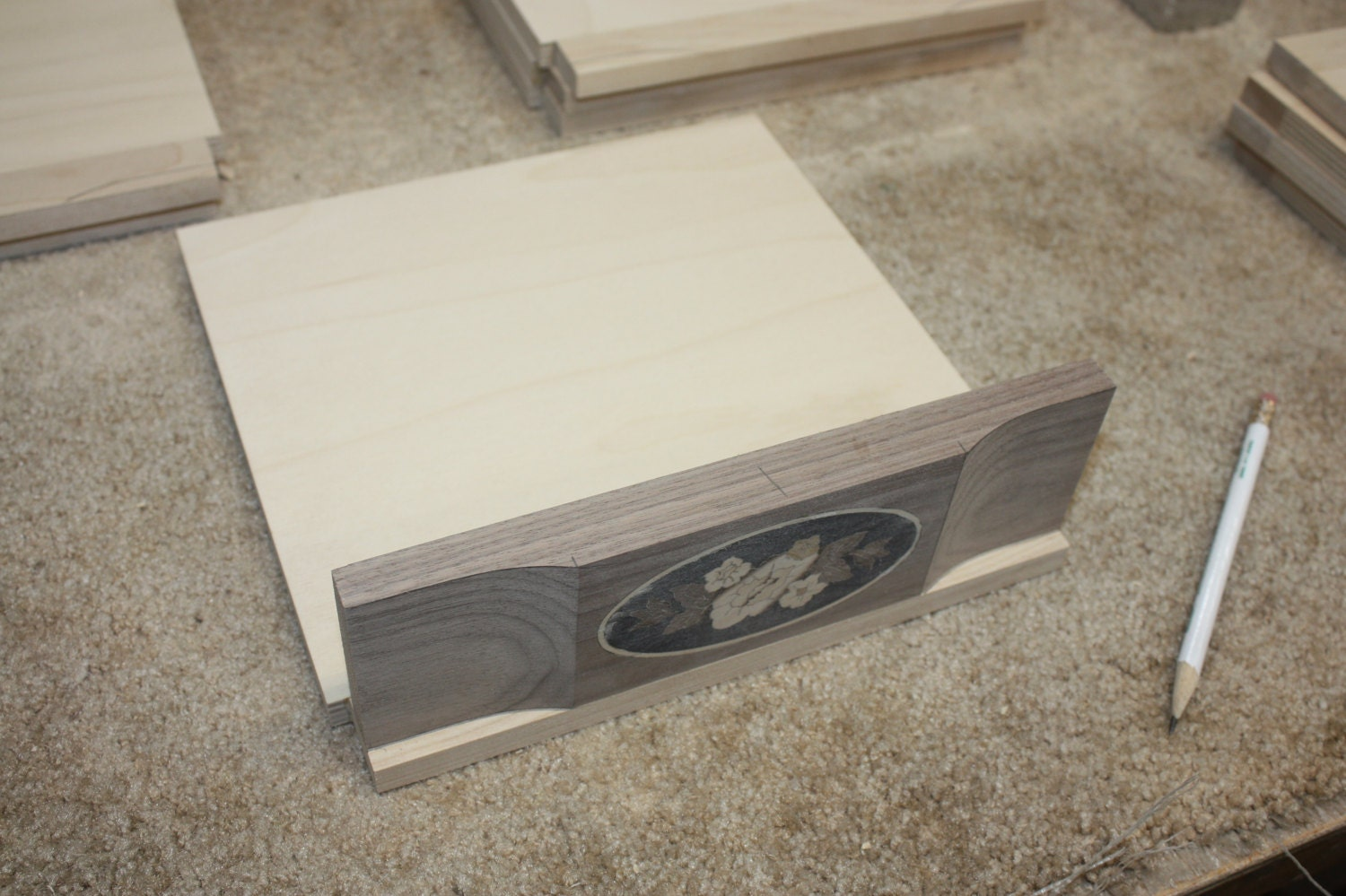 Tracing the Curve on Drawer Rails on Jewelry Box