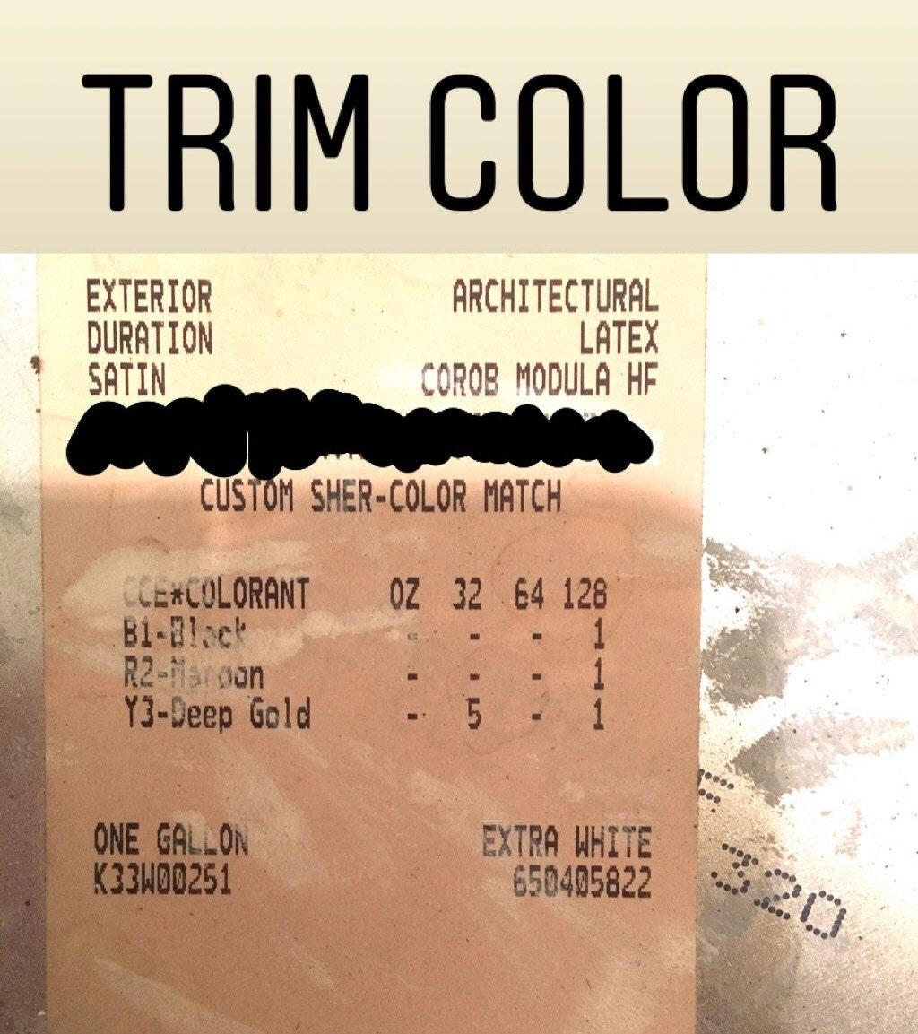 Trim Color Formula
