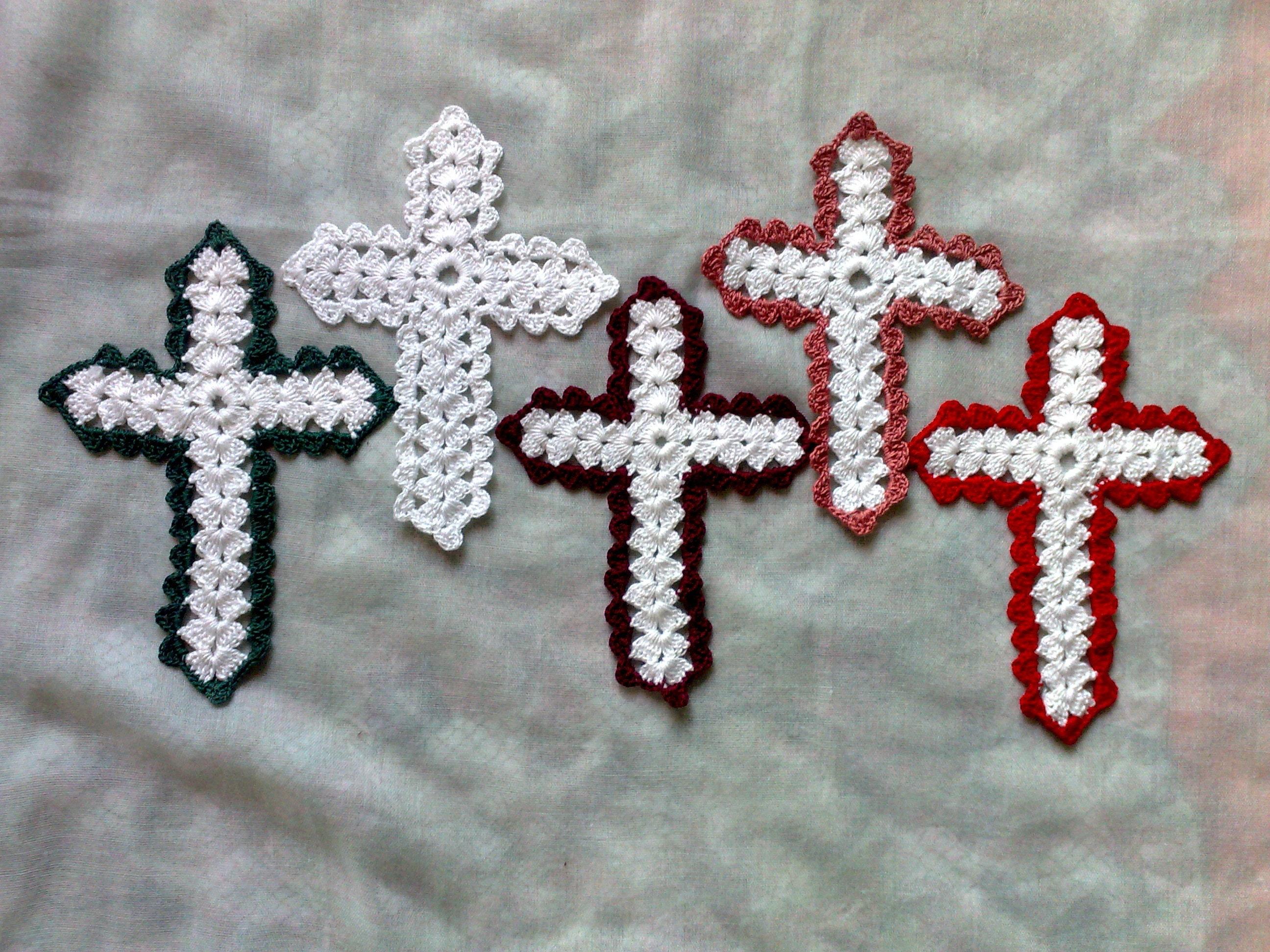 Bibel Lesezeichen weißes Kreuz mit farbiger Umrandung