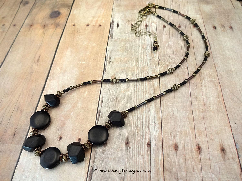 Matte Black Onyx Necklace