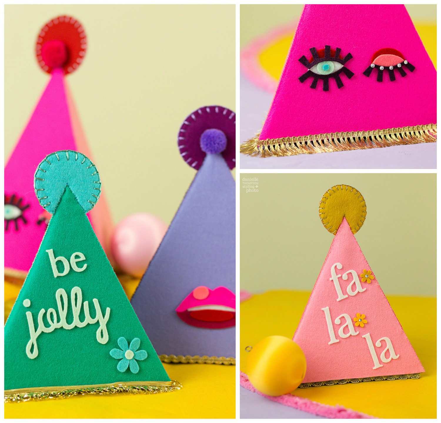 Colorful, fun and made with pure Wool Felt!