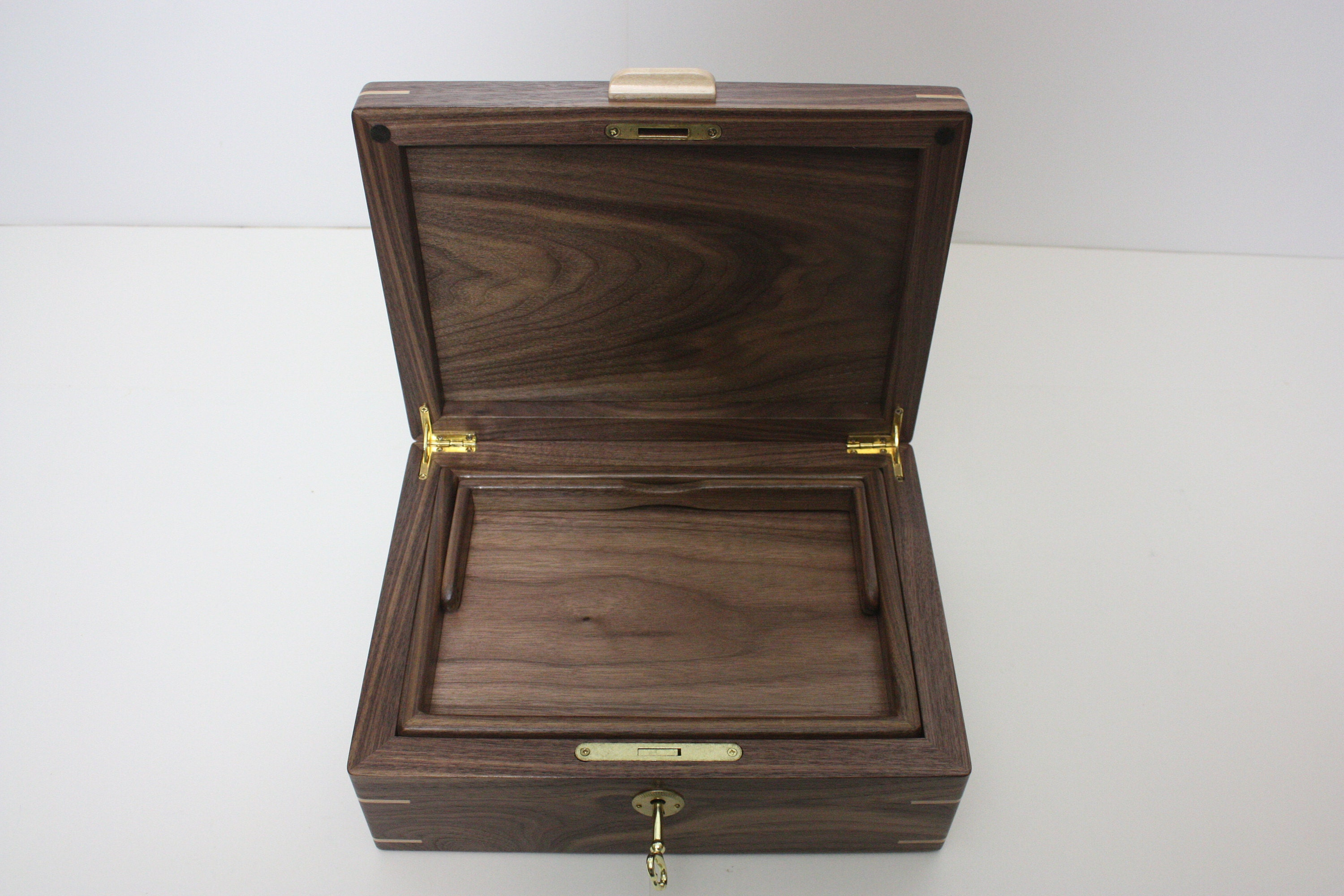 Box with Tray and Hinged Lid