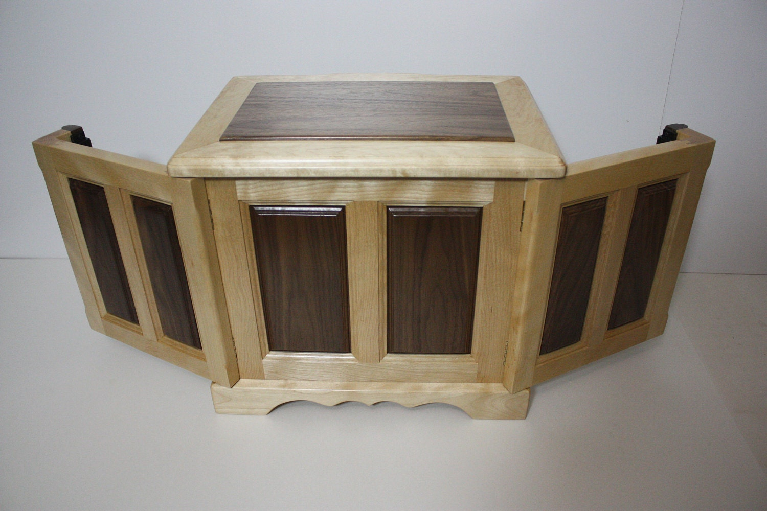 Jewelry Box with Walnut Swing Out Sides for Necklaces