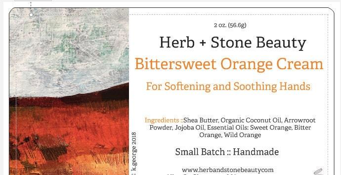 Label in Progress for Bittersweet Orange Cream