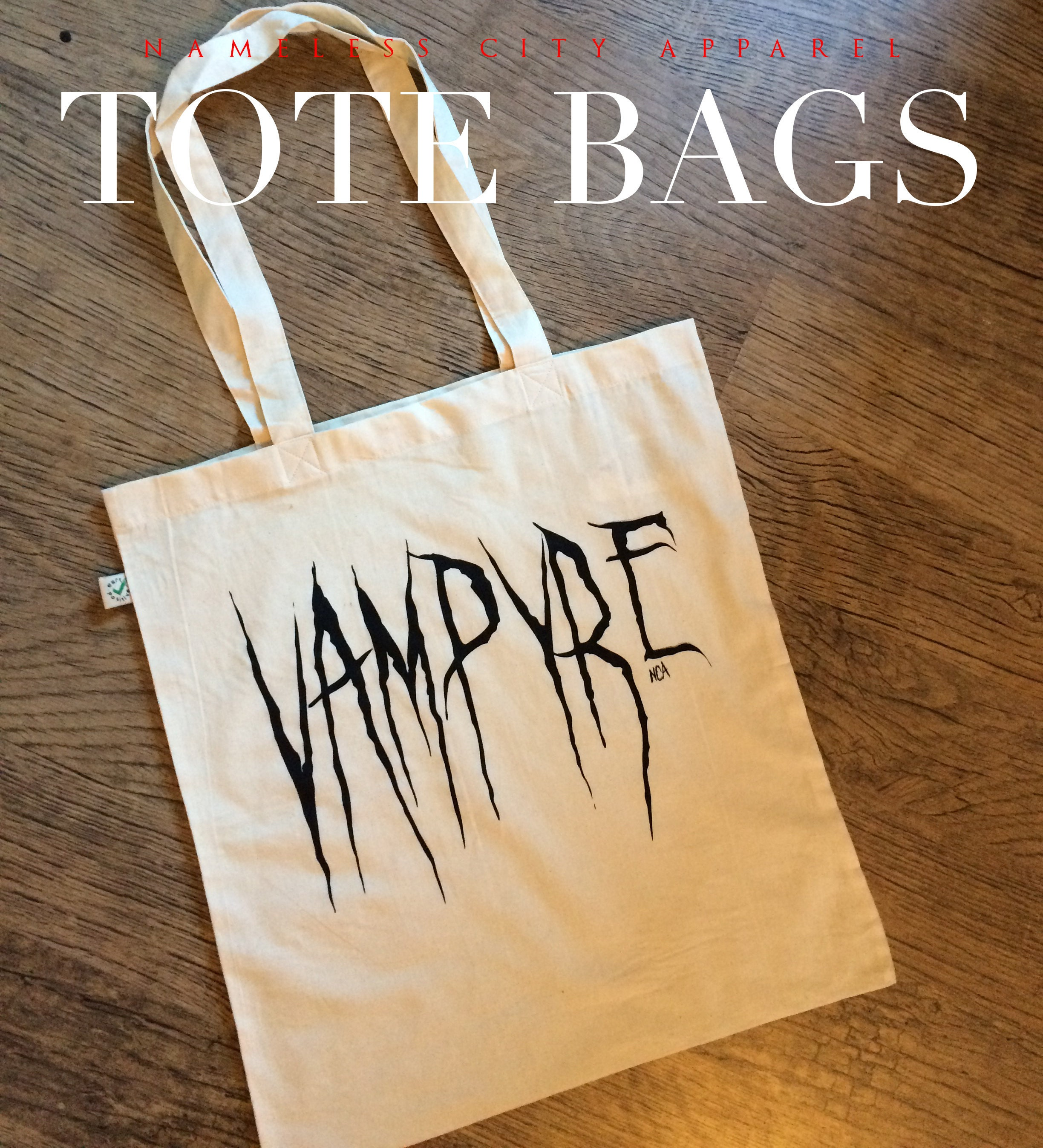 Vampyre tote bag by Nameless City Apparel