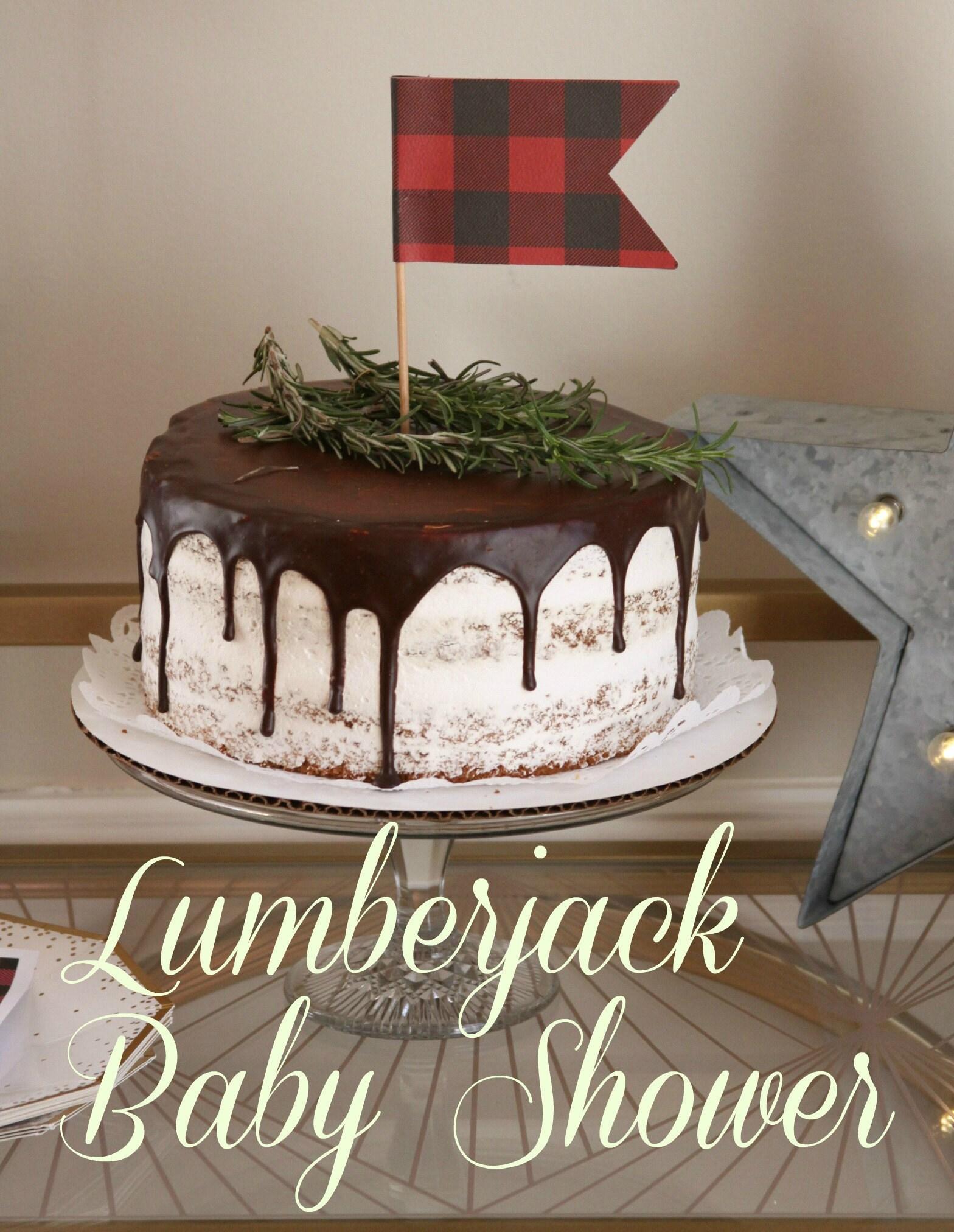 Lumberjack baby shower cake!
