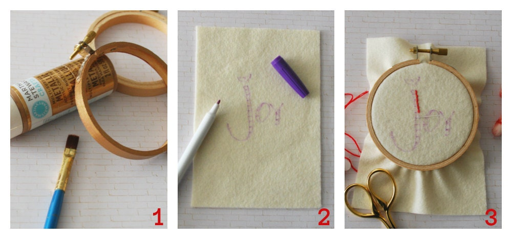 DIY - Hoop Art / Ornament