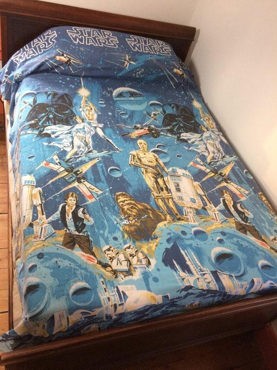 Original 1970s Star Wars bedspread