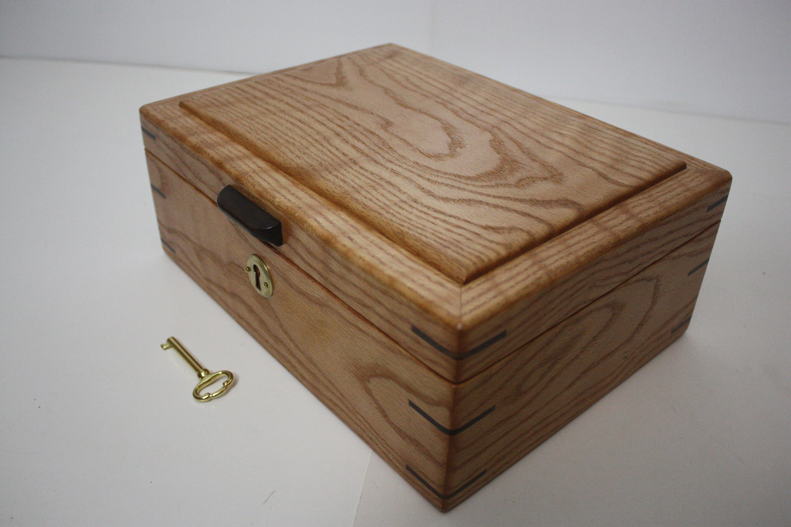 Curly Red Oak Box For Sale
