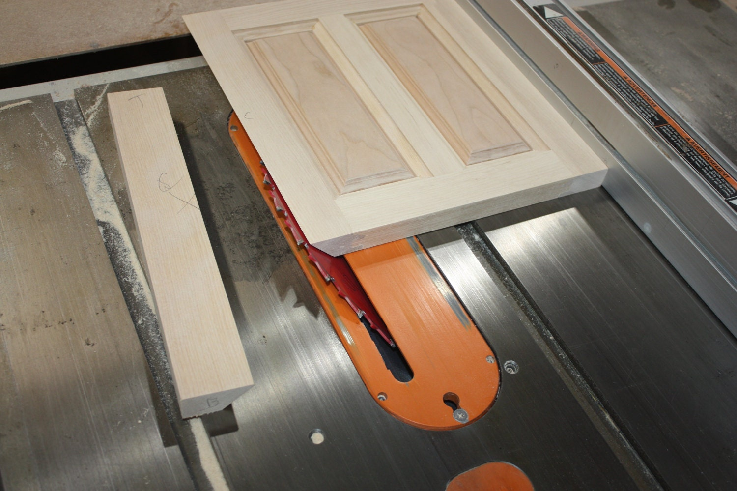 Miter a Return onto a Raised Panel Side