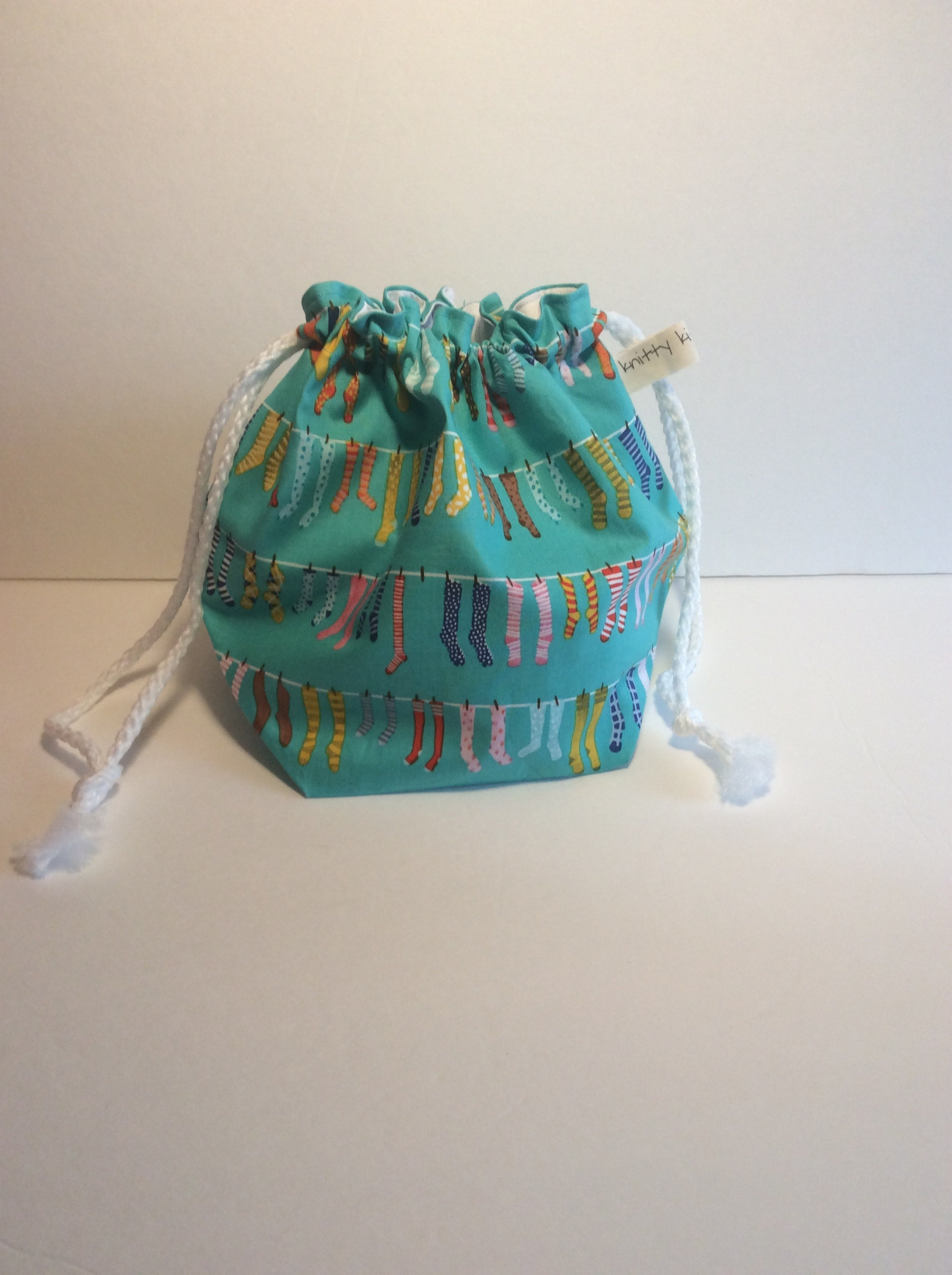 New drawstring project bag