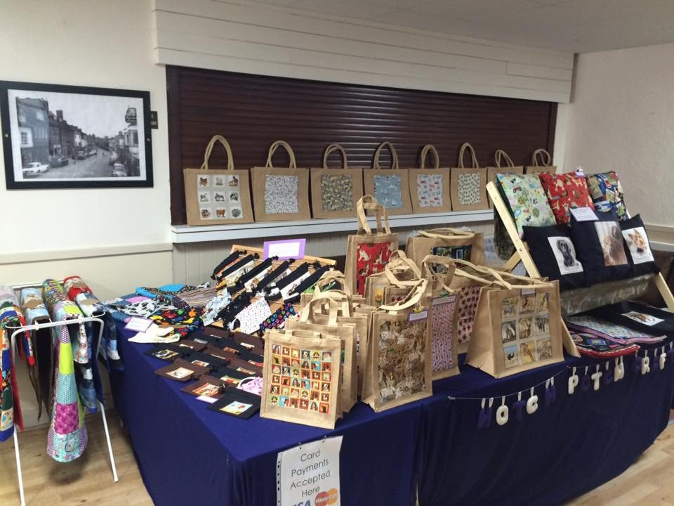 Our stall at a previous Companion Dog Show at Daventry Community Center.