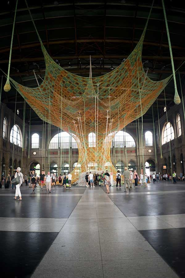 Ayahuasca inspired art installation in the Zürich train station.
