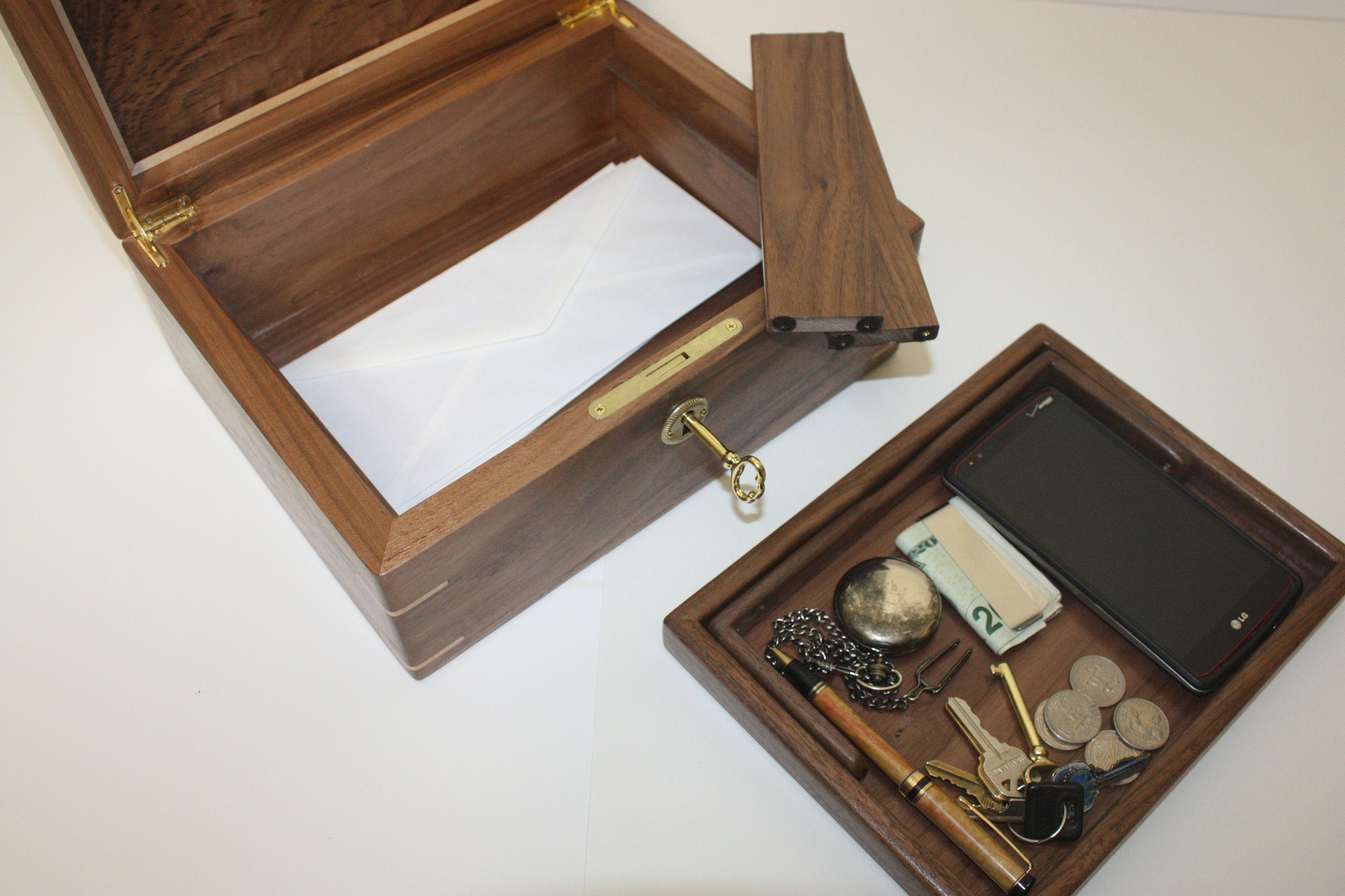 Mens Valet Wood Box