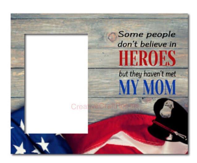 Police officer, frame, heroes, gift frame