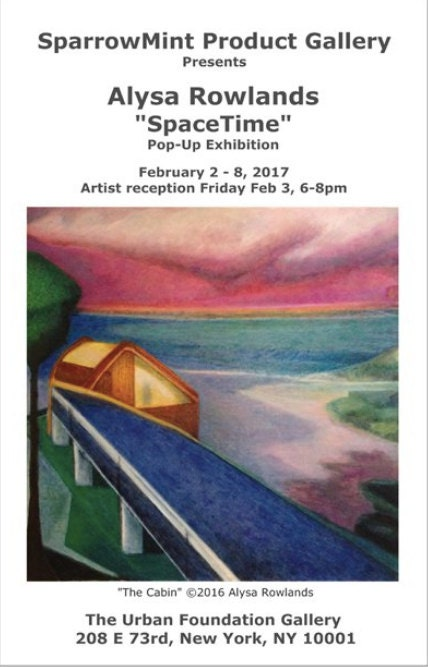 SpaceTime exhibition invitation
