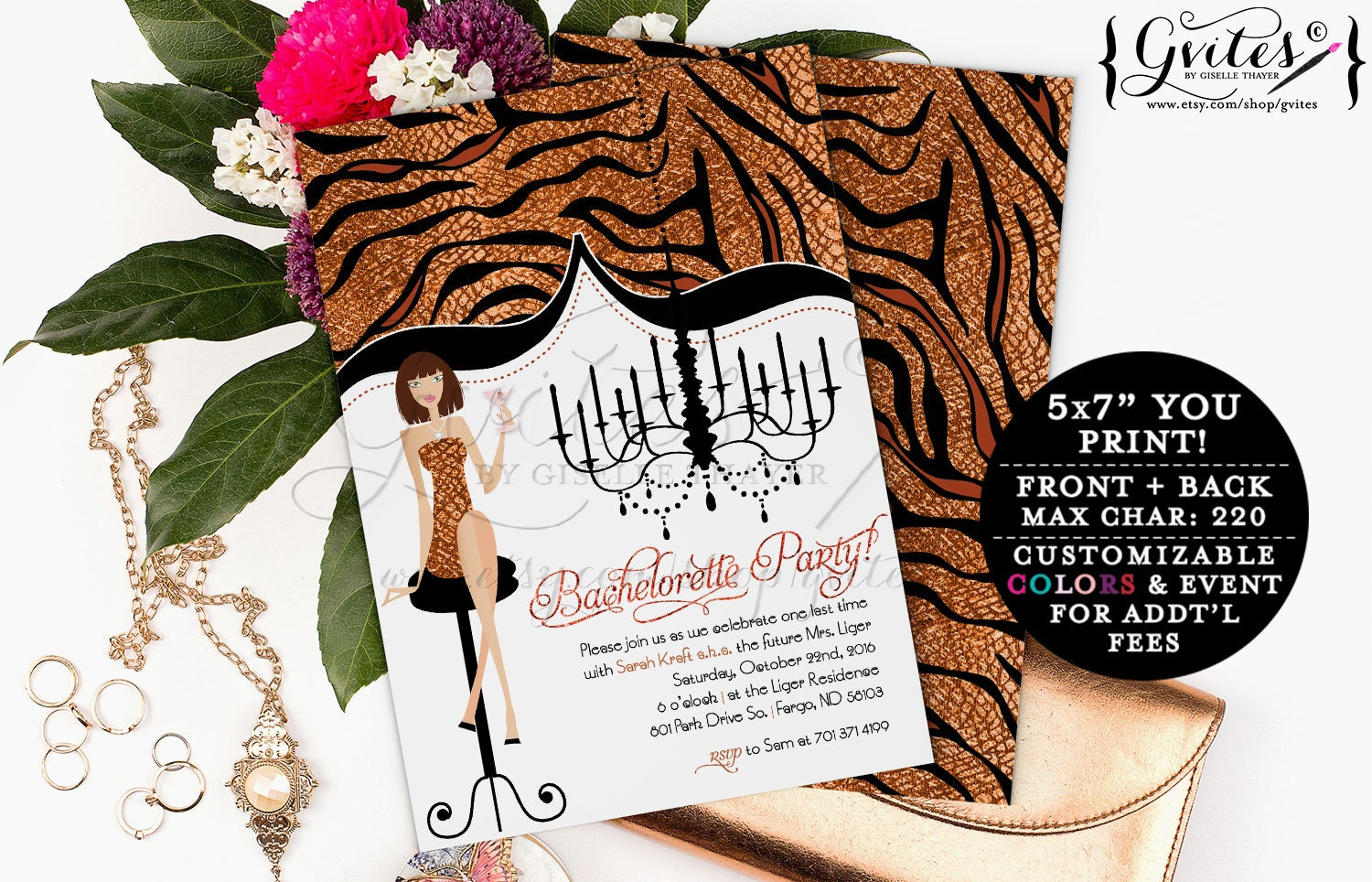 Bachelorette Party Glitz & Glam