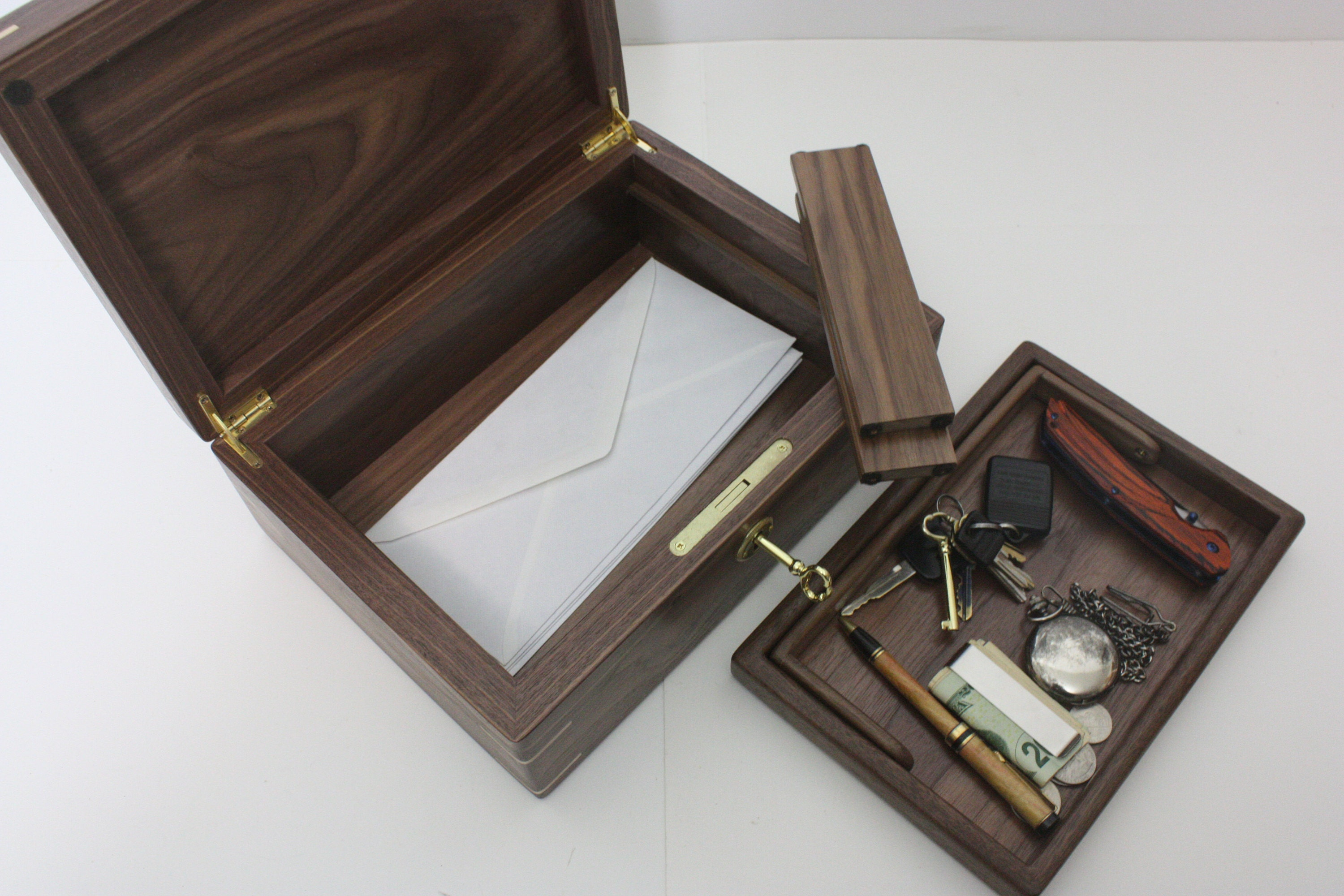 Handcrafted Mans Valet Box