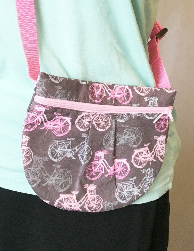 Grey and Pink waist pouch, hip pouch