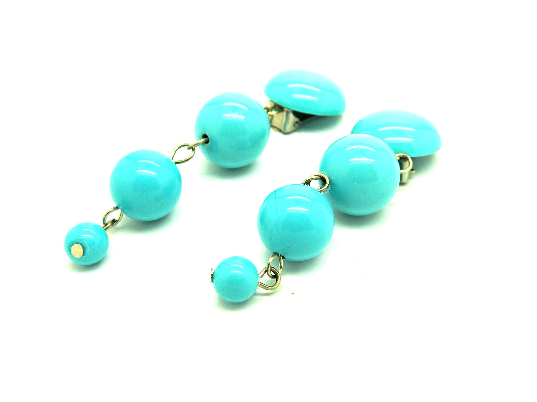 clip on earrings blue jewelry