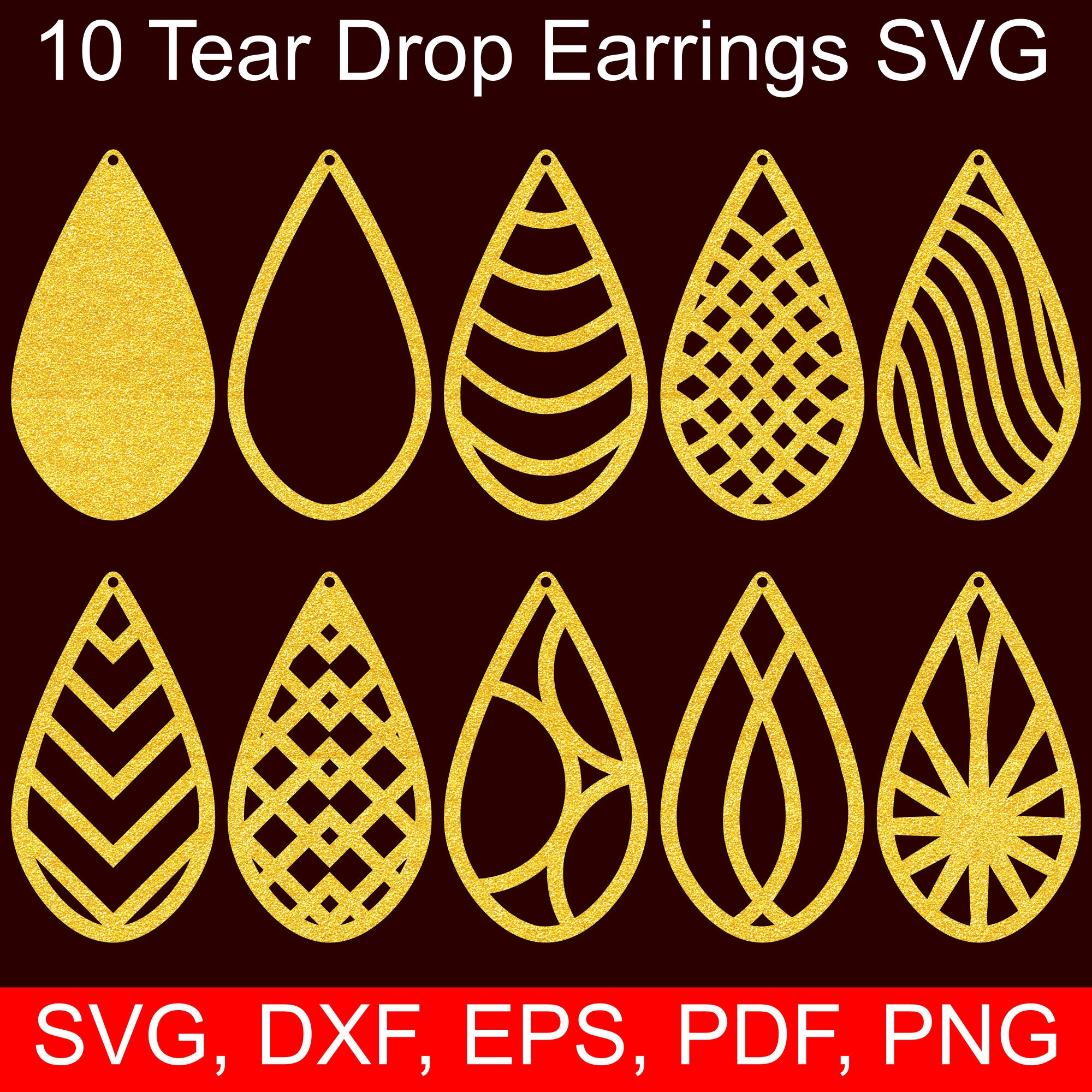 Download 5 Earrings SVG templates to make beautiful DIY faux ...