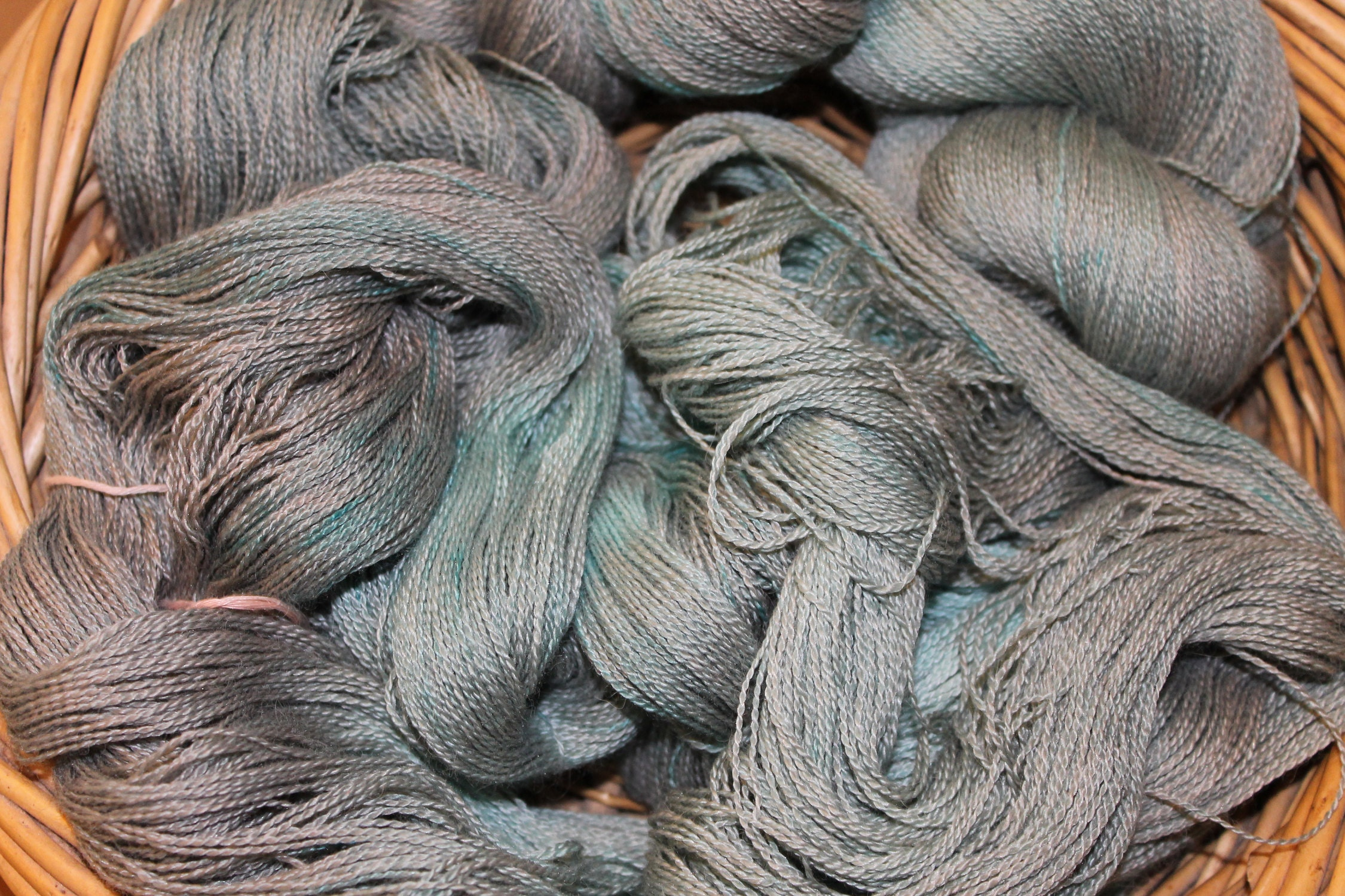 This is the finished yarn colour