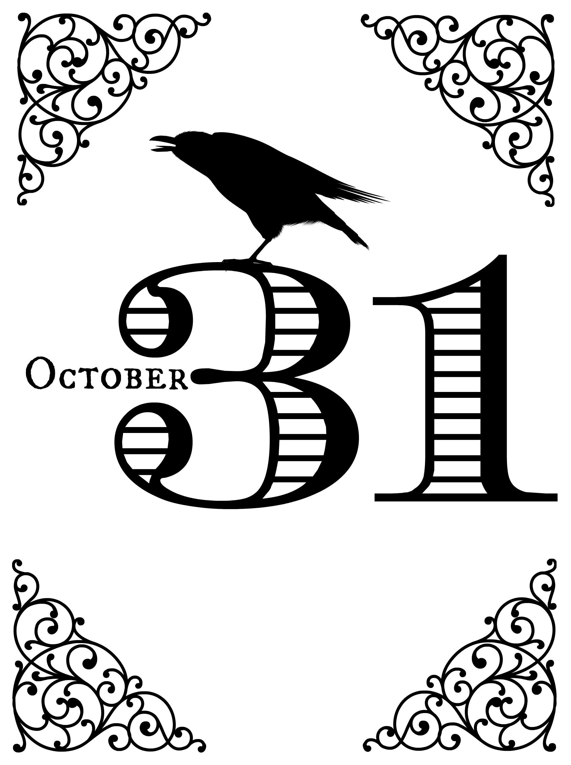 image relating to Vintage Halloween Printable called Absolutely free Basic Halloween Printables, Tablescape and Some Enjoyment Guidelines